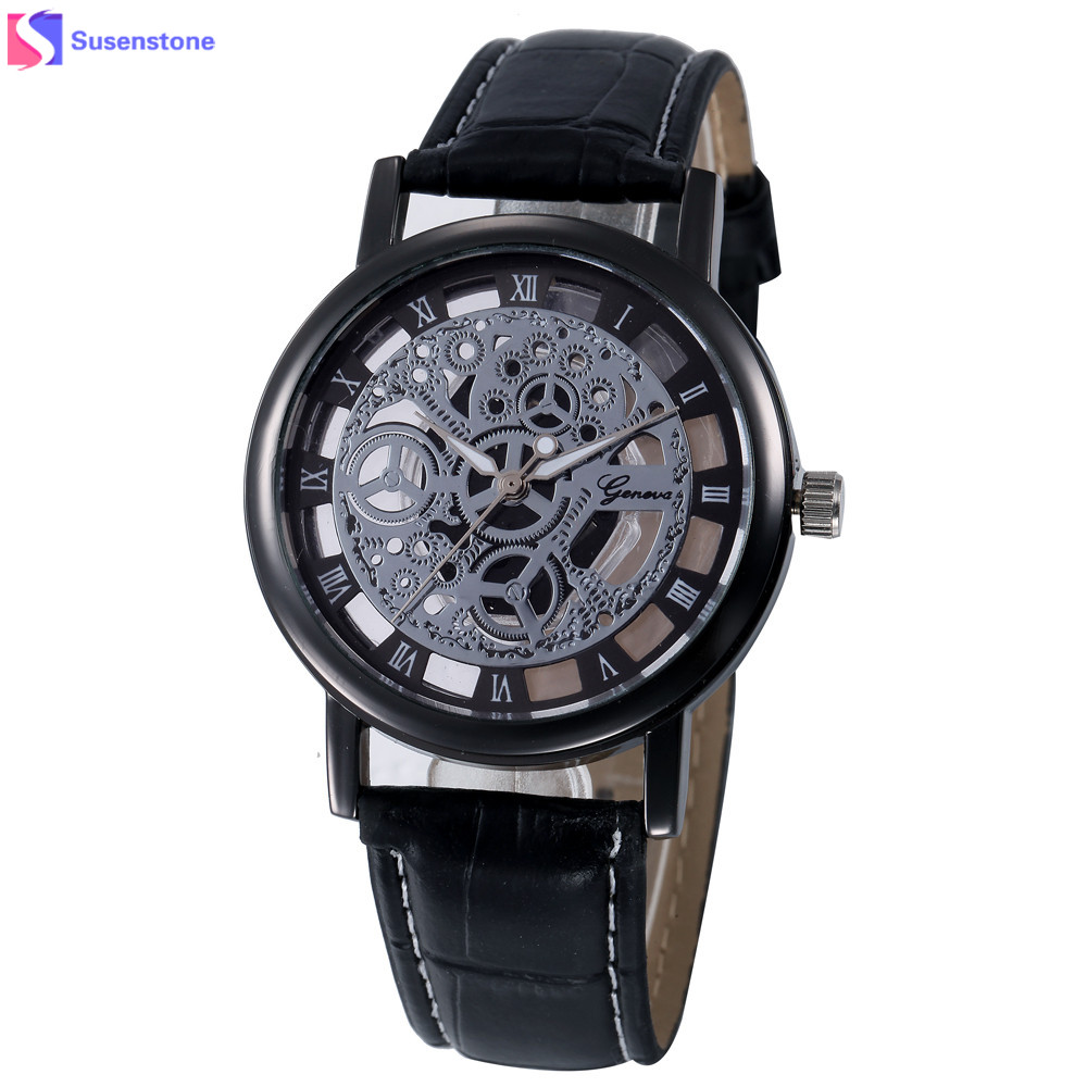 New Fashion Watch Women Hollow Out Dial Clcok Faux Leather Analog Quartz Watch Roman Numerals Ladies Casual Wrist Watch relogio  new watch women hollow out alloy dial clcok faux leather analog quartz watch roman numerals ladies casual wrist watches women