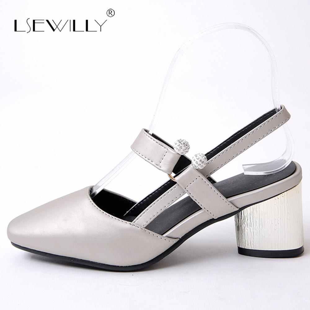 Lsewilly Karree Frauen Sommer Dicken Heels Sandalen 2018 Marke Designer Mode High Heels Casual Schnalle Sandalen S470
