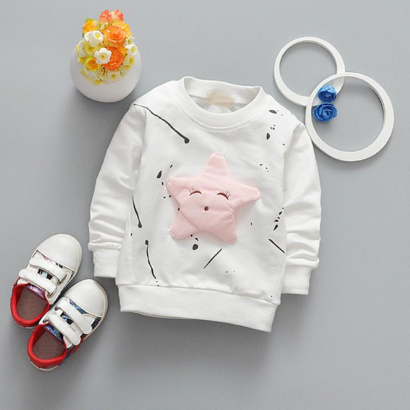 12M-24M winter baby clothes boys Sweatshirts costume for girls Printed Cotton Long Sleeve T-shirt Top Clothing for babie kids