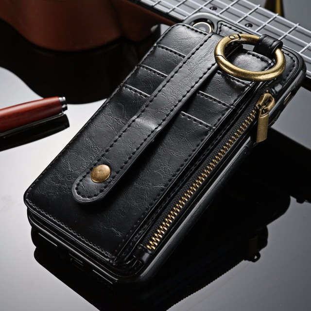 new product 6826d 42956 For iPhone X XS Max XR Case Wallet Magnetic Separable Leather Phone ...