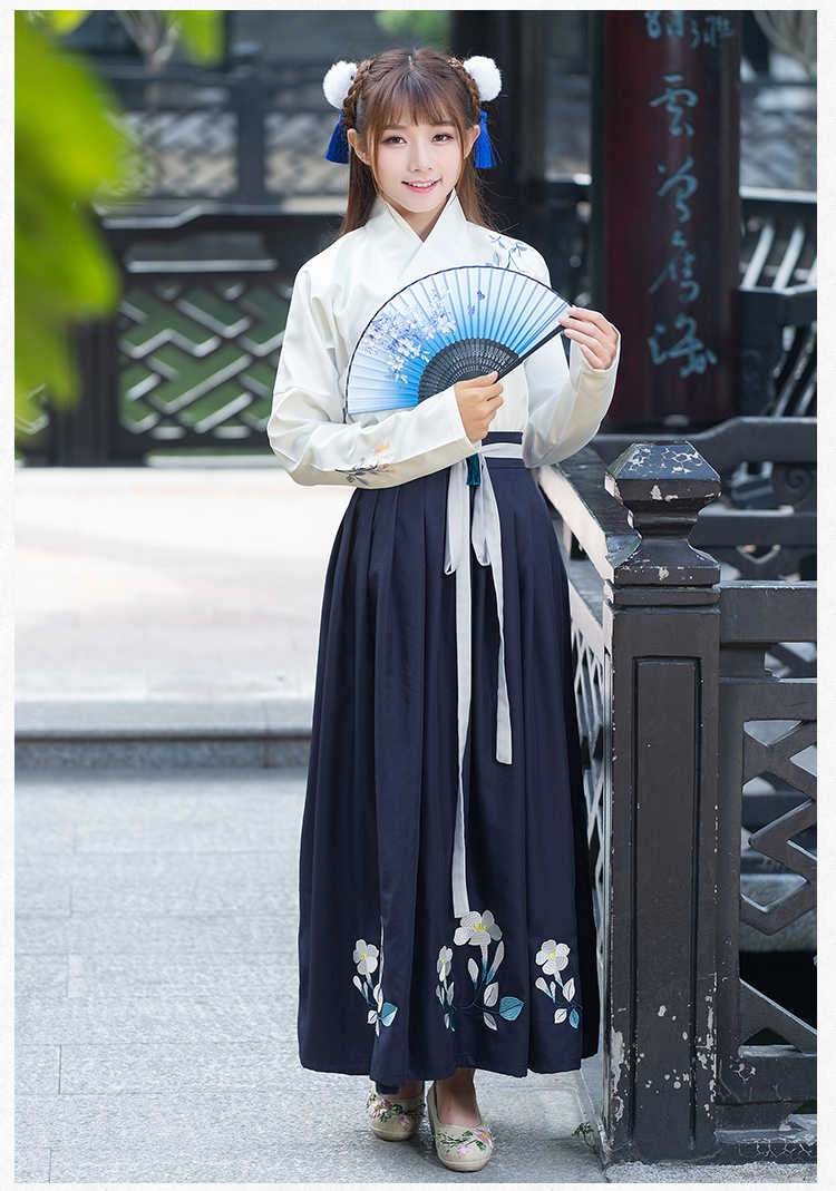 f61edcce6 ... Chinese style women's hanfu costume Cantonese embroidered skirt + Jacket  clothes Traditional Chinese Beautiful Dance Hanfu ...