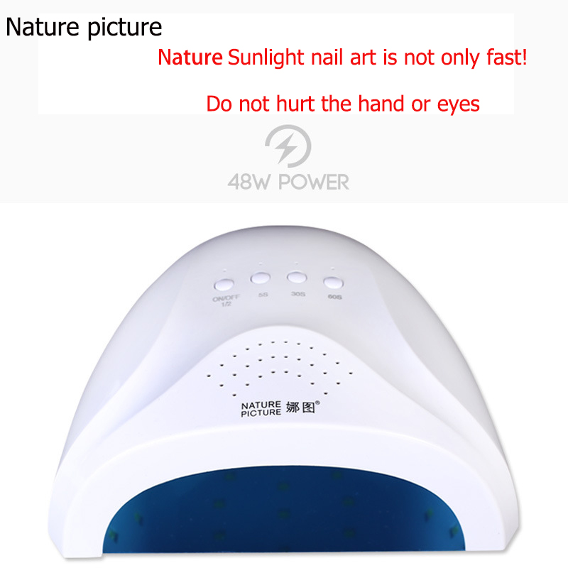 48W UV LED Nail Lamp Nail Dryer for All Gels,5s/30s/60s Button Perfect Thumb Large Capacity Uv Nail Dryer Uv Lamp Nail Dryer