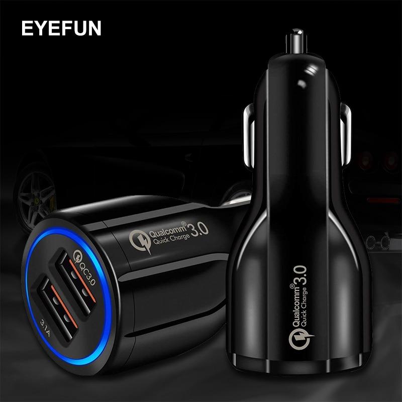 Quick Charge 3,0 Auto Ladegerät Für Handy Dual Usb Auto Ladegerät Qc 3,0 Schnelle Lade Adapter Mini Usb Auto Ladegerät Handy-zubehör Kfz-ladegeräte