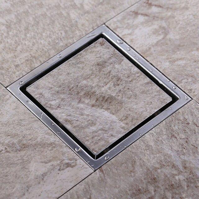 Extrem Fliesen Legen Quadrat Bodenablauf Abfall Roste Bad unsichtbaren BW41