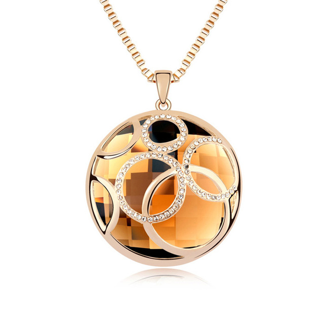 Crystal Circle Pendant