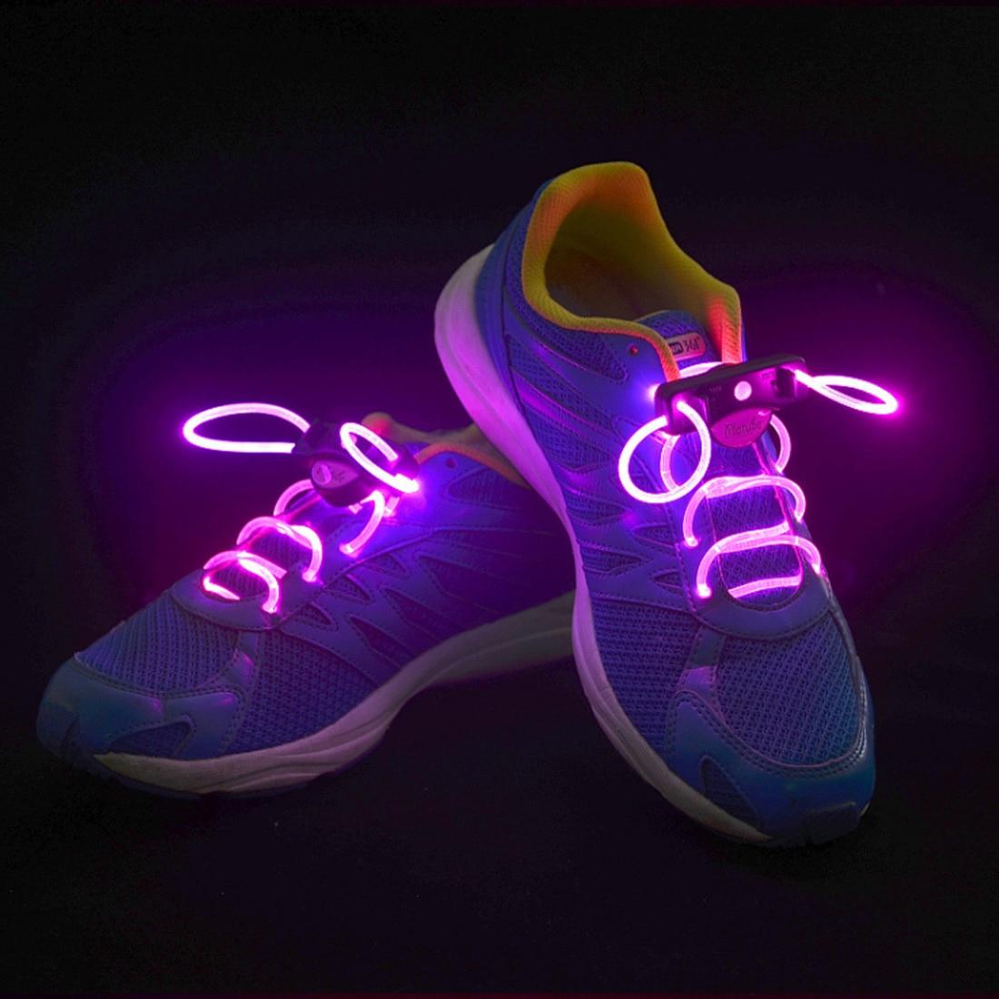 2pcs LED Shoelaces Shoe Laces Flashing Light Up Glow Stick Strap Neon Shoe Strings Luminous Laces Disco Party