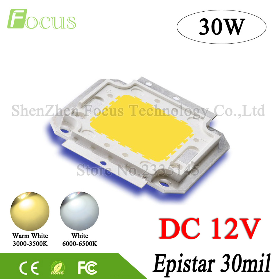 DC 12V Floodlight 1W 3W 5W 10W 20W 30W 50W 100W LED Chip Warm White For