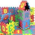 36 Шт./компл. детская Мягкой Складывающейся Ползет Ковры, Детские Игры Число Головоломки/Письмо Пены Eva Коврик Для Ребенка игры Pad 15*15