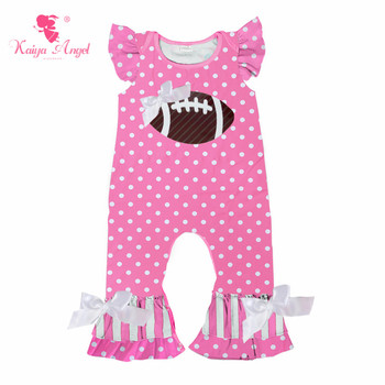 Kaiya Angel Hot Christmas Halloween Newborn Red dot White Bow Baby Boy Girl Rompers Toddler Kids Summer Clothes Birthday Party