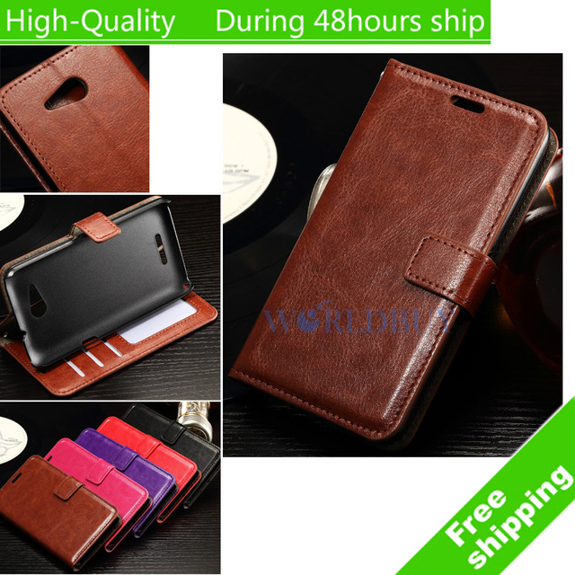 For Sony Xperia E4g E2003 E2006 E2053 E5033 E2043 Wax Crazy Horse Flip Leather Wallet Case Holder Cover