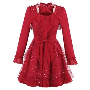 Image 5 - Princess sweet lolita dress Candy rain fall original Japanese girl wind sweet butterfly sleeve jacobs princess dress C22CD7200