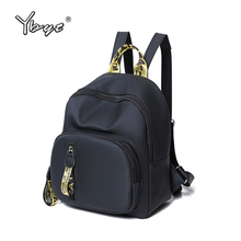 YBYT brand 2019 new casual preppy style women backpack panelled simple ladies travel bag small rucksack student school backpacks