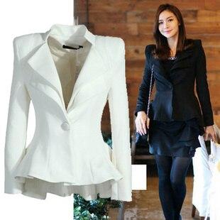 1f3db98ac951a Nueva marca otoño invierno capa de la chaqueta Blazer Jacket Women Suit Blazer  de moda sólido mujeres Blazer Color Natural juego delgado CA42 en Chaquetas  y ...