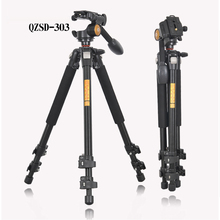 Buy online QZSD Q303 Professional Tripod For SLR Cameras Photographic Ball Head Action Camera Stand Accessories Tripode Trepied Photo
