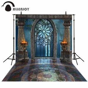 Image 2 - Фотофон Allenjoy для студийной фотосъемки фантазия Хэллоуин волшебное окно огонь раковина Сказочный фон дворец фотосессия