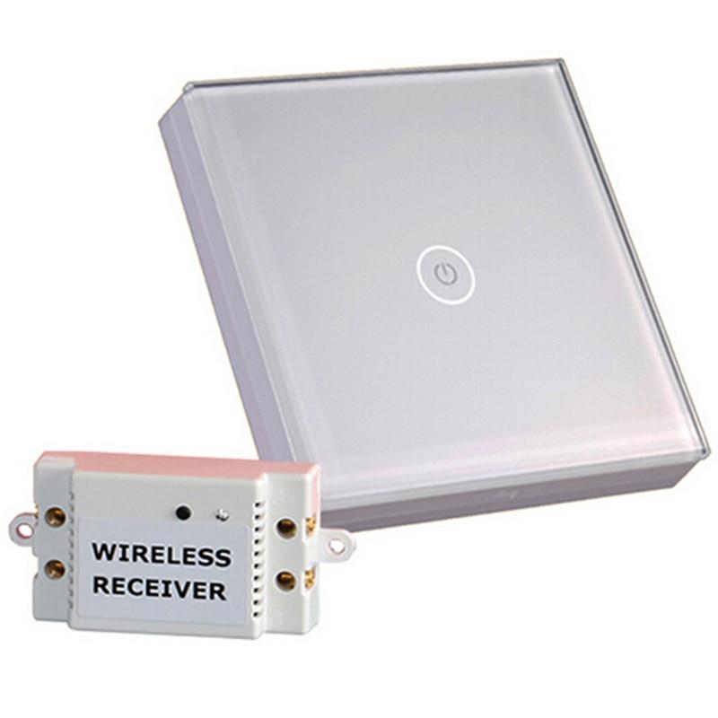 Smart Home Touch Schalter 1 gang 1 weg Wireless 12 v Touch Schalter stabile und wand schalter für Lichter und power Streifen Kostenloser Versand