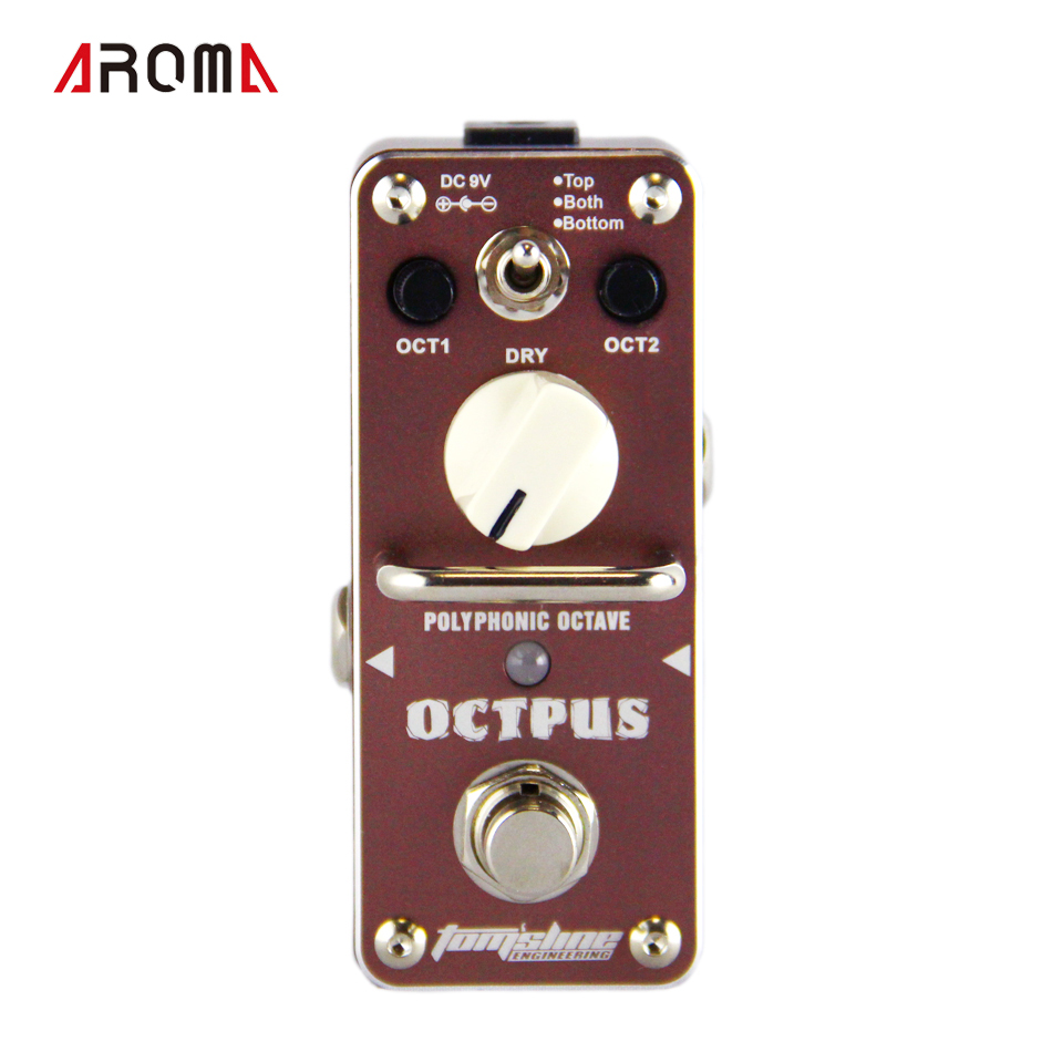 New and ORIGINAL  AROMA AOS-3 OCTPUS 1 octave polyphonic effect Mini Digital Effect True Bypass aob409l b409l aos to 263