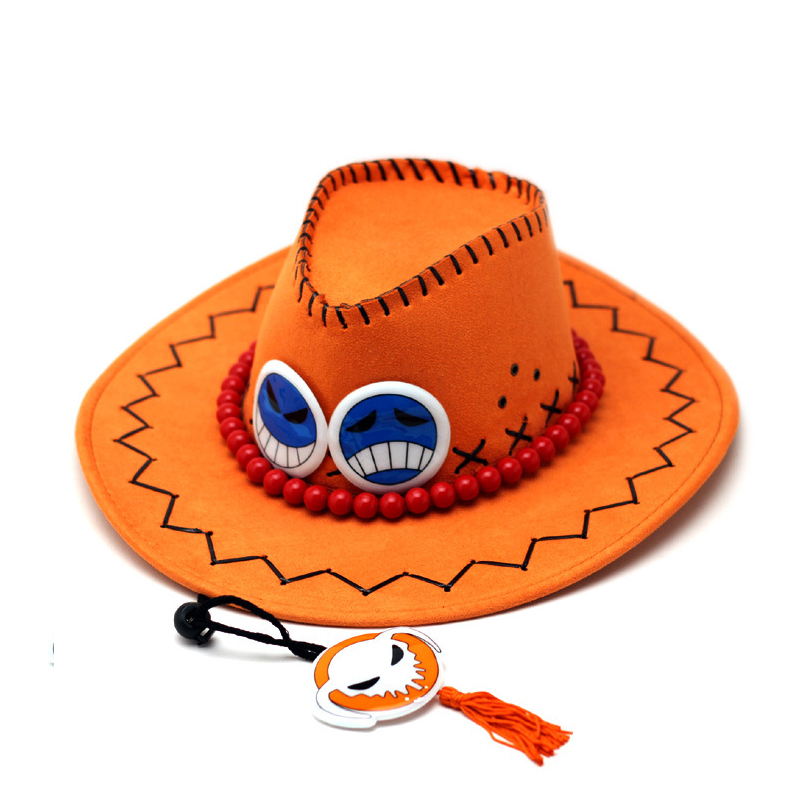 Ace One Piece Hat Anime Cosplay Cap Hats Toy Cartoon Hats Cowboy Hat Doll  Red Orange Color to Choose Free shipping -in Boys Costume Accessories from  Novelty ... c79e08d2a5f