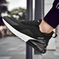 Nuevas zapatillas de correr para hombre Jogging Sneakers para mujer suela de aire transpirable malla con cordones al aire libre entrenamiento Fitness calzado deportivo