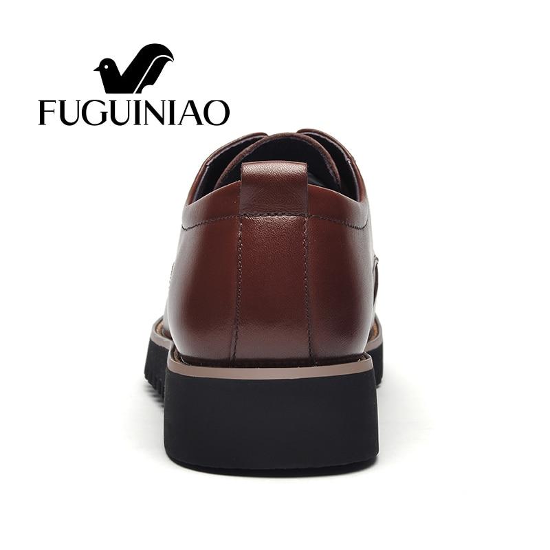 buy online b57be a3c65 Großhandel Mode Business Schuhe / Kostenloser Versand! FUGUINIAO Echtes  Leder Herren Kleid Schuhe / Männlich Formale Farbe Schwarz, Braun Von ...