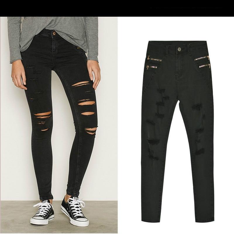 Ladies Black Jeans Promotion-Shop for Promotional Ladies Black ...