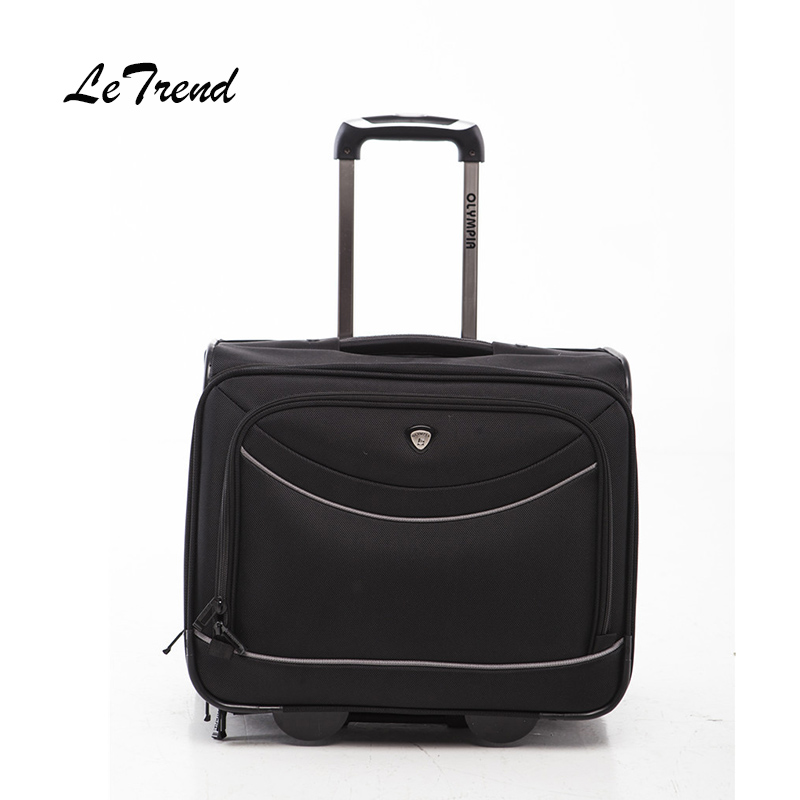 Letrend Business Rolling Luggage Casters Oxford Trolley 18 inch Men Carry On Wheels Suitcases Travel Duffle Cabin Computer Box trolley travel bag hand luggage rolling duffle bags waterproof oxford suitcase wheels carry on luggage unisex small size