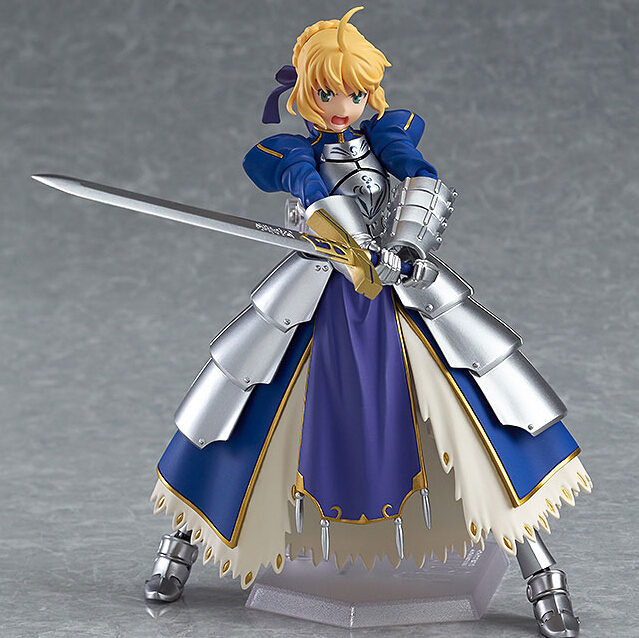 Anime Fate stay night Figma227 Ubw Zero Saber Knight Girl Arthur PVC Action Figure Collection Model Toys Doll 15cm Free Shipping alen new hot fate stay night racing girl black blue white saber throne pajamas action figure toys collection christmas gift doll