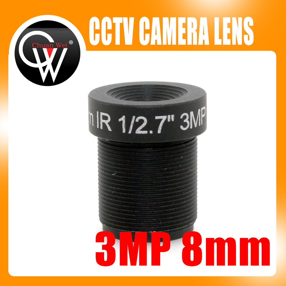 3MP 8mm lens IR F2.4 1/2.7 M12 Fixed Focus Lens Board Mount for IP Camera Security Camera board camera lens 16mm 5mp m12 mount ir f2 0 1 2 5 for cctv security camera board ip cam board with ir filter