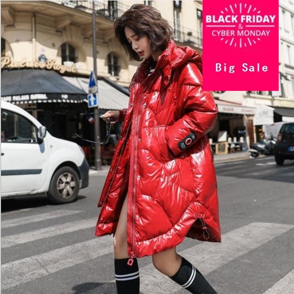 winter new arrival the fashion hooded duck   down   parkas winter red color thicker warm   down     coat   wq521 dropship