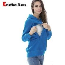 MamaLove/зимние топы для беременных; одежда для грудного вскармливания; топы для кормящих и беременных; Одежда для беременных женщин; свитер с капюшоном для беременных