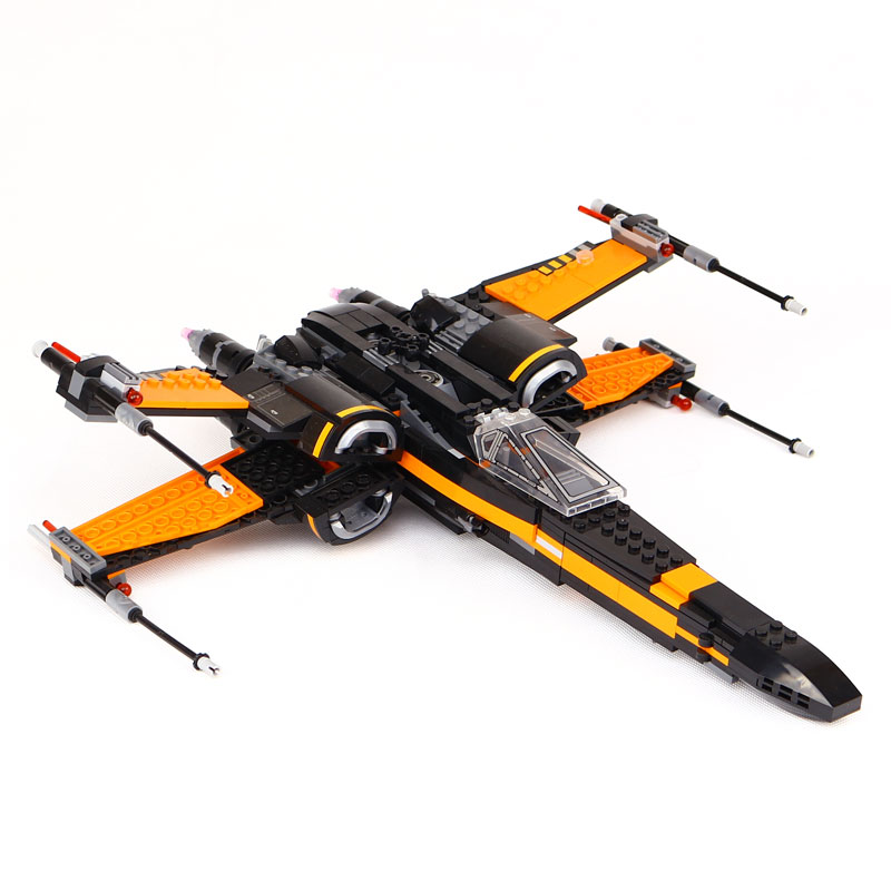 New Lepin 05004 845pcs Star Wars First Order Poe's X-wing Fighter Assembled  Building Block Compatible legoedly With gift 75102 hot sale building blocks assembled star first wars order poe s x toys wing fighter compatible lepins educational toys diy gift