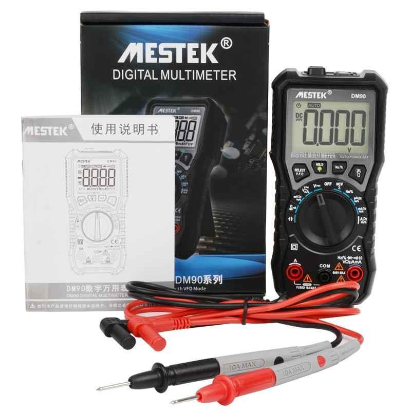 Mestek DM90 Mini Multimeter Digitale Multimeter Auto Range Tester Multimetre Beter dan Pm18c Multi Meter Multitester