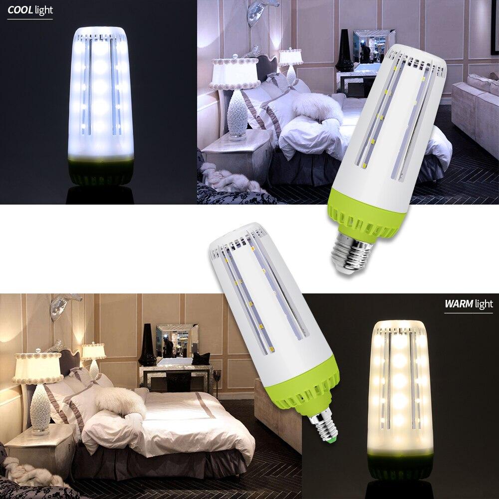 E14 LED Lamp 220V Smart IC Led Corn Bulb E27 Large Brightness SMD5736 LED Light 110V 42 60 78leds No Flicker For Bedroom Kitchen