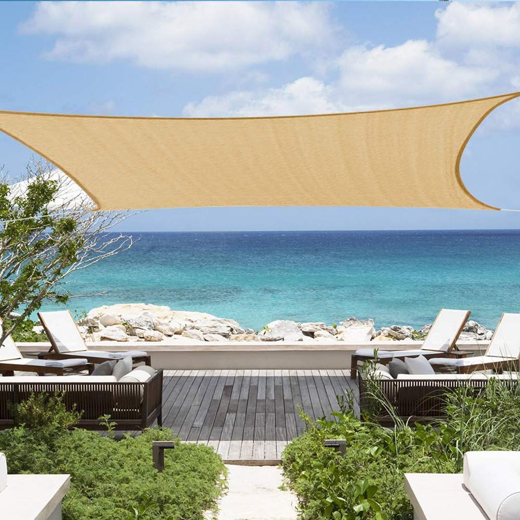 3 m x 4 m Durable solide Anti-âge outil de Protection solaire ombre Anti-âge abri solaire Protection auvent jardin Patio piscine ombre voile