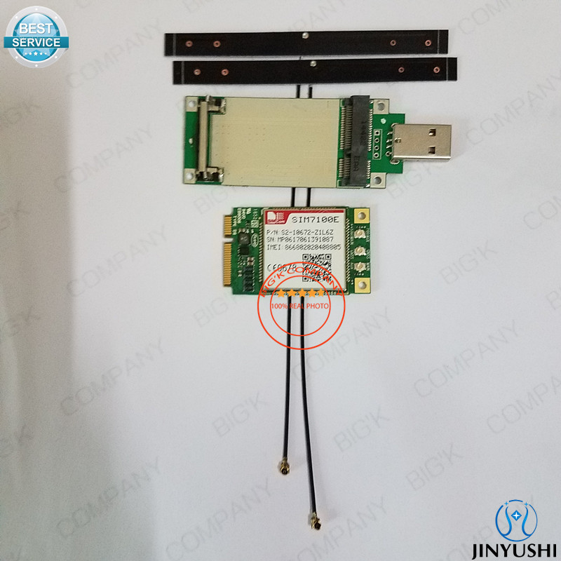 JINYUSHI for SIM7100E Mini Pcie 2pcs antenna USB transfer card 100 New Original TDD LTE FDD