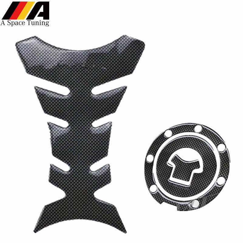 Siyah 3D motosiklet Moto yakıt tankı Pad kapak Sticker koruyucu çıkartması Honda CBR RVF VFR CB400 CB1300 CBR1000RR CBR600R VT250