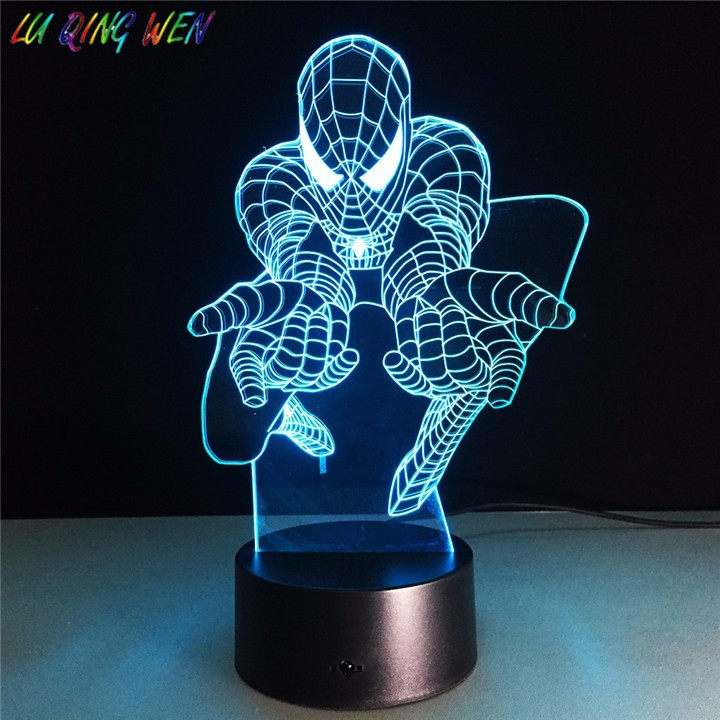 Lampe LED Marvel Spiderman mit Batterie und Taste ONOFF