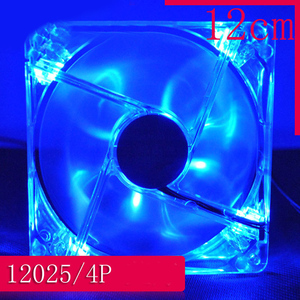 Colorful Cooling Fan Plastic 12CM Fan 120mm PC Computer Fan 4 LEDs Case for Computer Case CPU Cooler Radiator Pk Arsylid Cooler