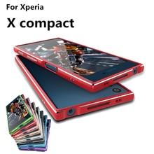 """Чехол для Sony Xperia X Compact Роскошные Делюкс ультра тонкий алюминиевый бампер для Sony Xperia X Compact 4.6 """"Чехол + 2 Плёнка"""