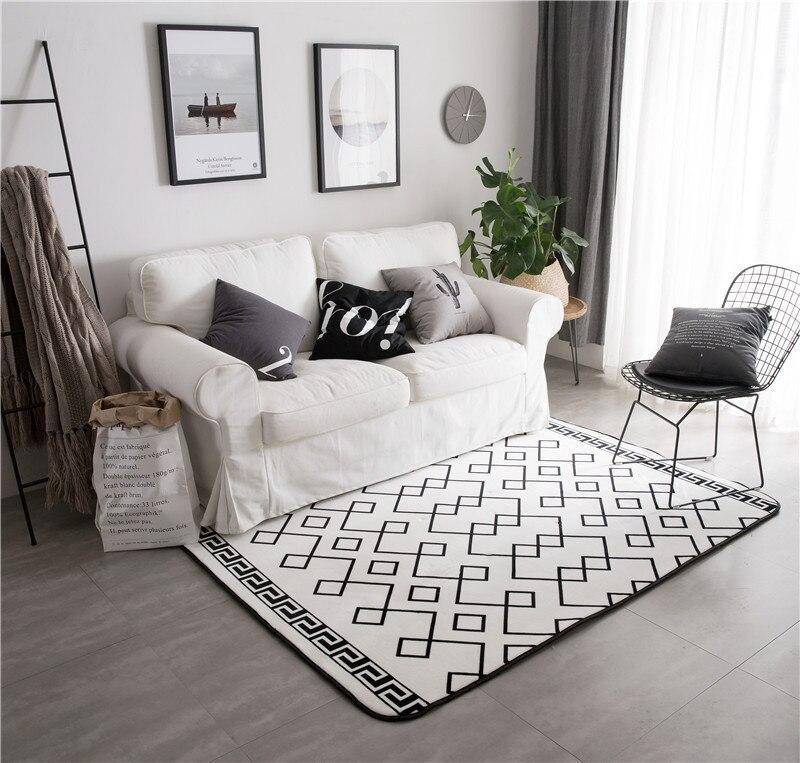 Grande taille 150*195 CM tapis de mode tapis et tapis pour la maison salon velours Surface chambre tapis daim tapis tapis de sol doux
