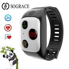 SOS GPS Tracker Crianças Banda Inteligente Para Crianças Meninos Meninas Panda Dos Desenhos Animados do Telefone Smartwatch Com Passometer Inteligente Pulseira USB Charg