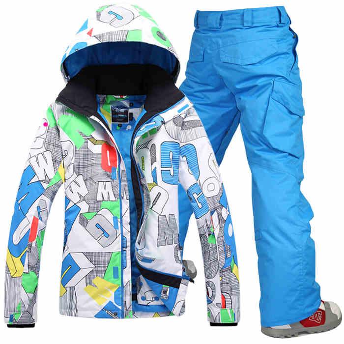 Prix pour GSOU SNOW Vêtements de Ski d'hiver en plein air Haut de gamme Snowboard ski costume ensembles de ski veste de ski + pantalon manteau imperméable à l'eau chaude clothing-30 degré