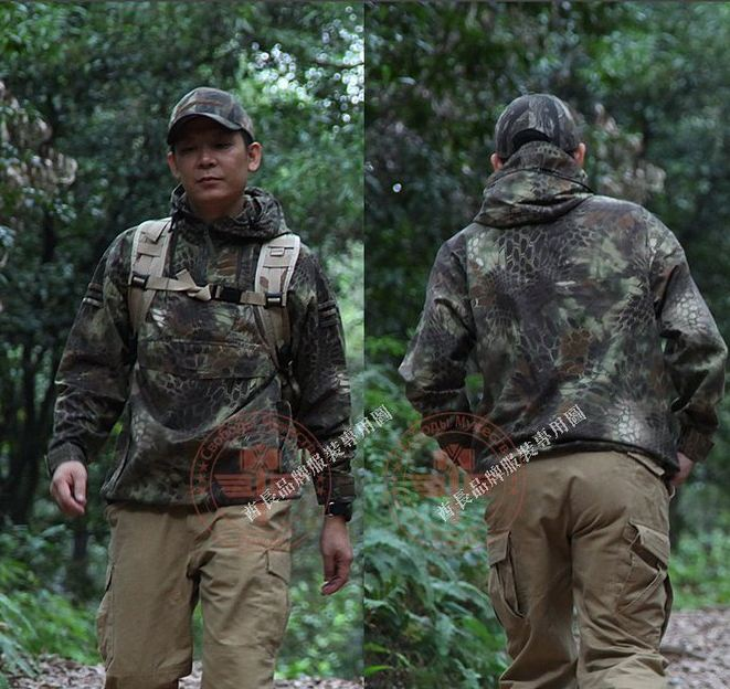 rattlesnake camo combat tactical paintball Airsoft game Python cycling Camping Hiking outdoor HOOD JACKET OUTERWEAR clothing