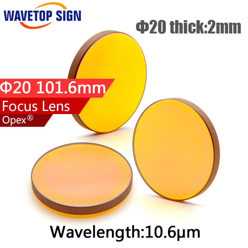 Better Quality Laser Wood Cutter Machine Optical Pickup Lens Diameter 20mm Focal Length 101.6mm ZnSe Lenses znse material diameter 20mm co2 optical focal lens focusing mirror for laser engraver focal length 38 1mm