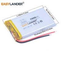 Polymer battery 503456 503356 3.7V 1000mah smart home MP3 speakers Li-ion battery For dvr GPS mp3 mp4 cell phone speaker 503455