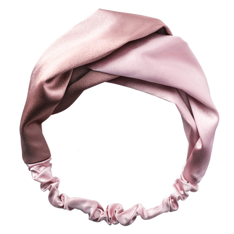 Wide Hair Bands for Women Elastic Knotted Headbands Twist Cross Hairband Headwrap Girls Silk Satin Turban Hair Accessories