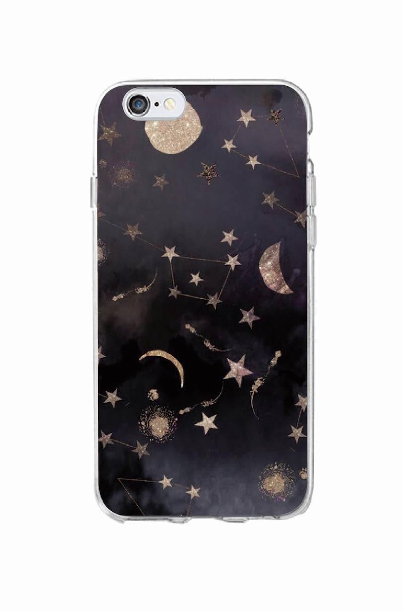 Rum i rummet Planet rumskibskonstellation Stjerner Moon Soft Clear - Mobiltelefon tilbehør og reparation dele - Foto 2