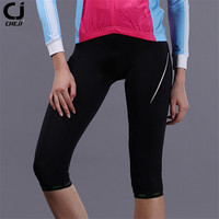 CHE JI Women Cycling Shorts Three-quarter 3D Gel Padded Bike Bicycle Underwear Sport Wear Ciclismo Bicicleta Female Bermudas