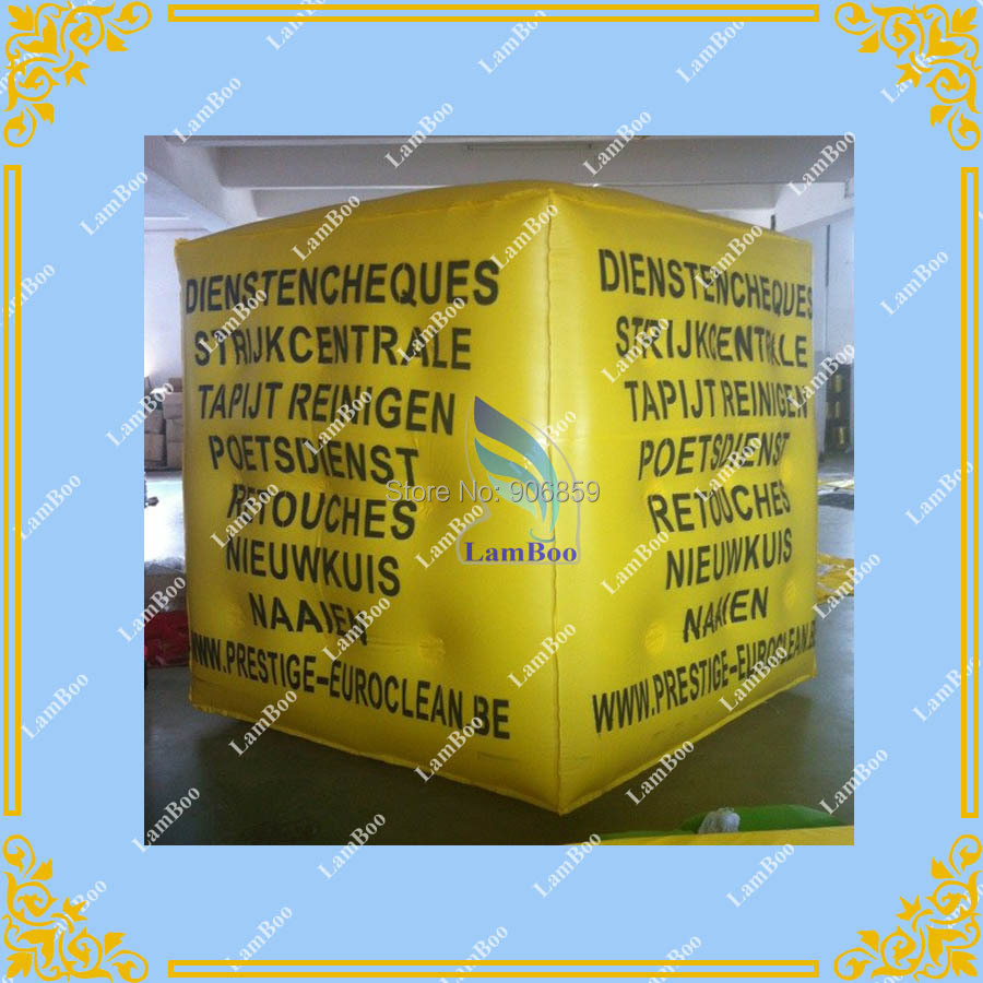 2m Yellow Inflatable Cube Advertising Balloon with 4 sides Digital Printing LOGO for  Advertisement/DHL FREE SHIPPING2m Yellow Inflatable Cube Advertising Balloon with 4 sides Digital Printing LOGO for  Advertisement/DHL FREE SHIPPING