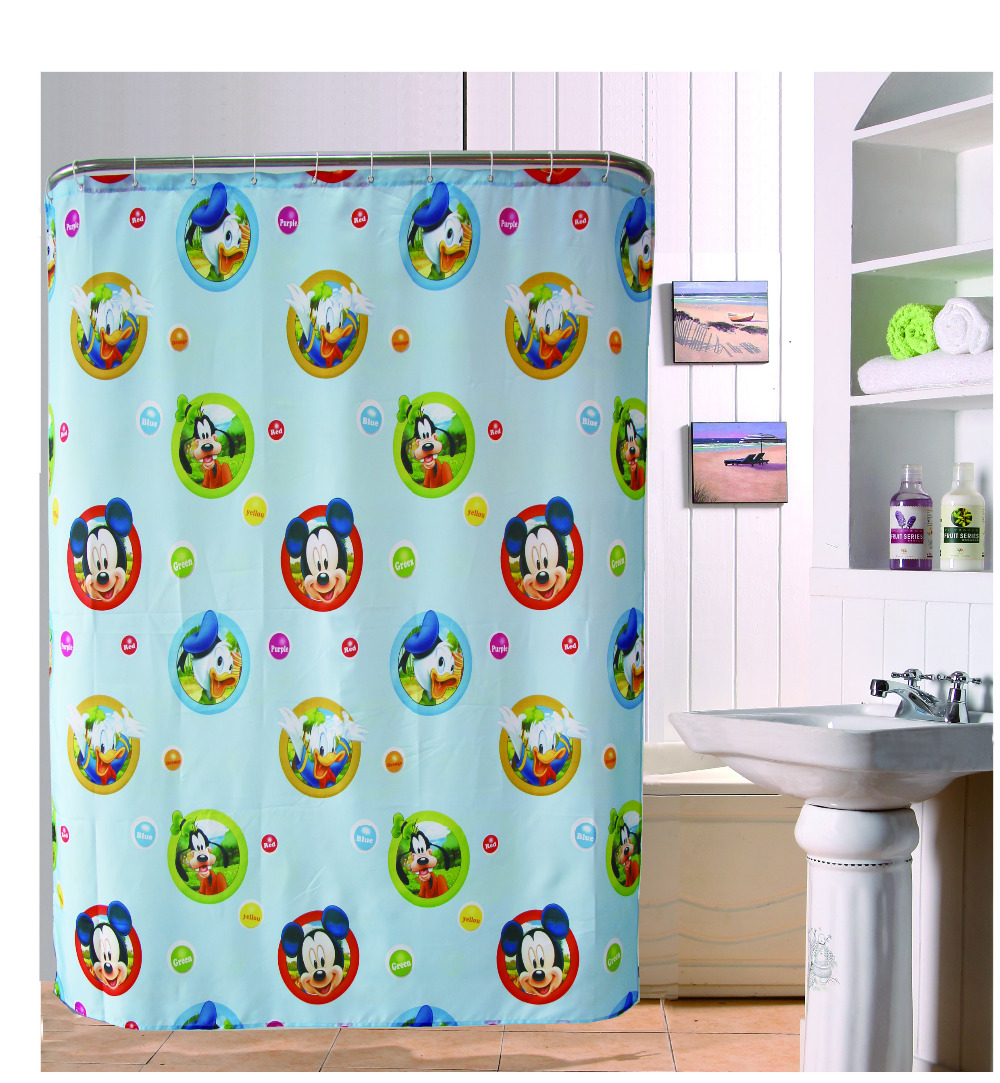 Mickey Mouse Lovely Cute Bathroom Shower Curtain 180x180cm Bath Curtain  Waterproof Polyester Bathroom Curtain(China